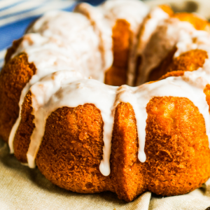 Carrot bundt cake made in Carson and delivered locally